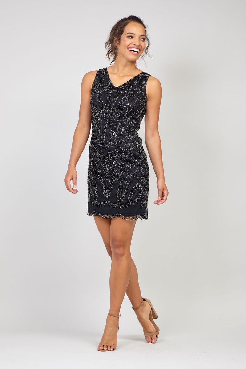 Black | Sequin Fitted Mini Dress