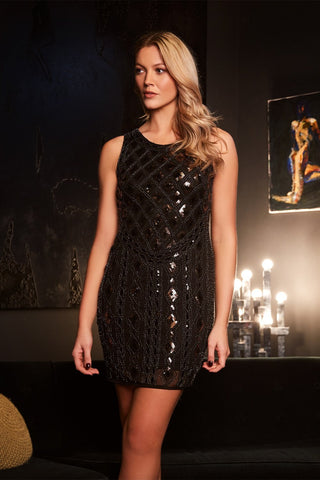 Lace Panel Bodycon Party Dress