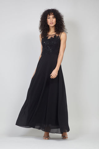 Draped Front Maxi Wedding Guest Dress