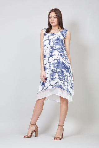 Ditsy Floral Tie Back Tea Dress