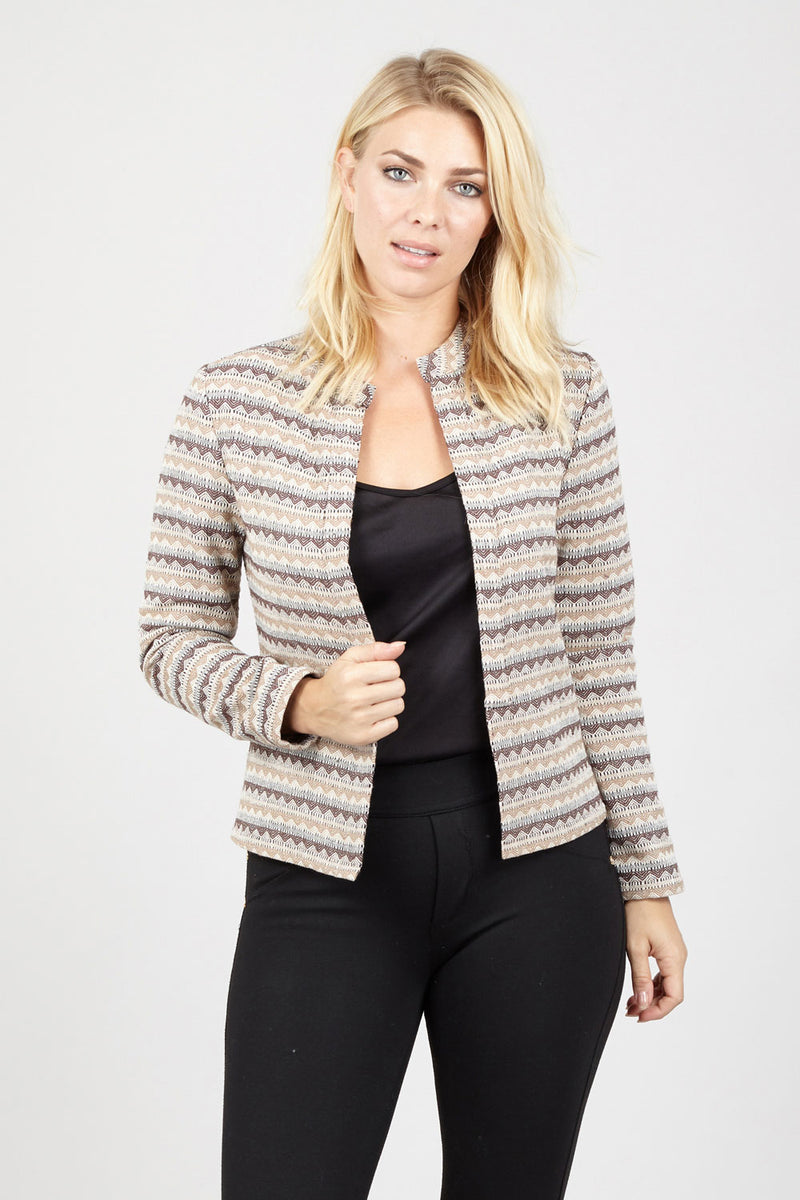 Aztec Tailored Jacket - Izabel London
