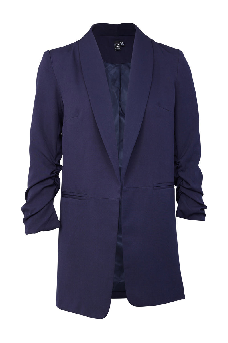 Longline Relaxed Blazer - Izabel London