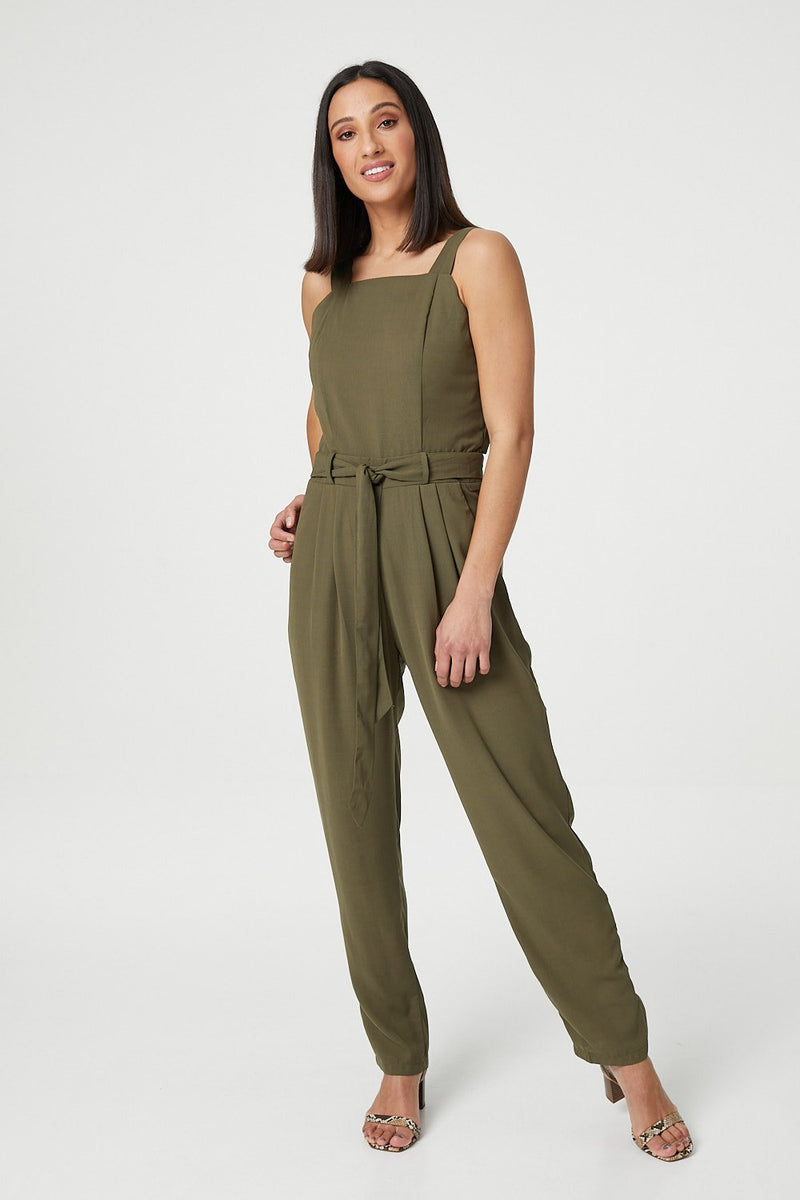 Green | Square Neck Jumpsuit