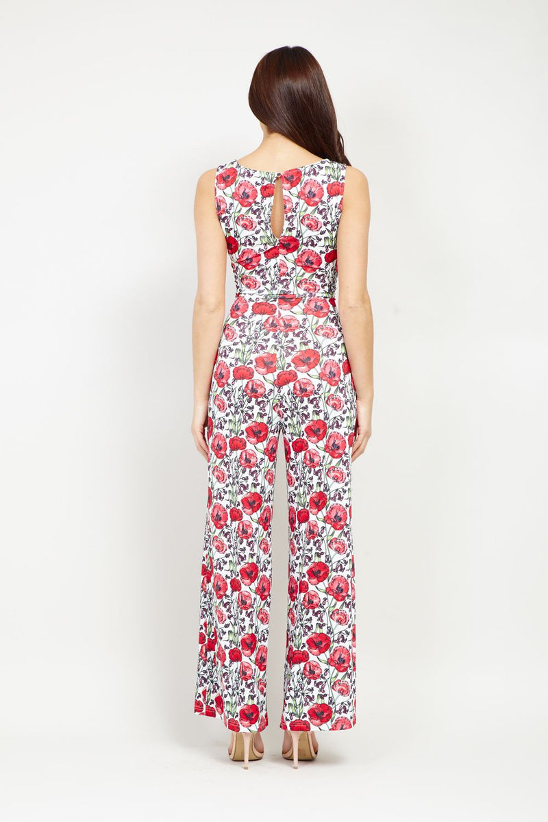 Red | Ditsy Floral Jumpsuit