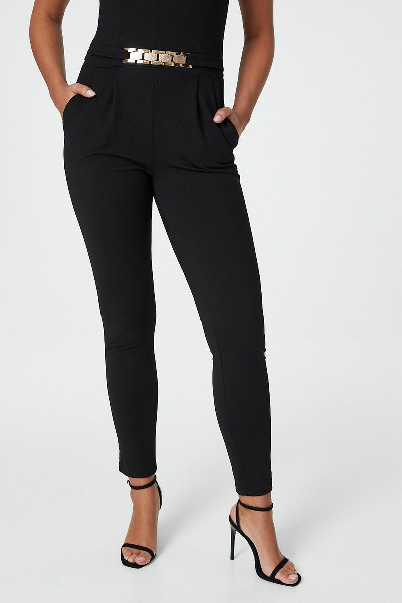 Black | Cinched Waist Jumpsuit