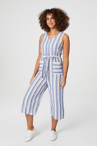 Striped Tie Waist Dress