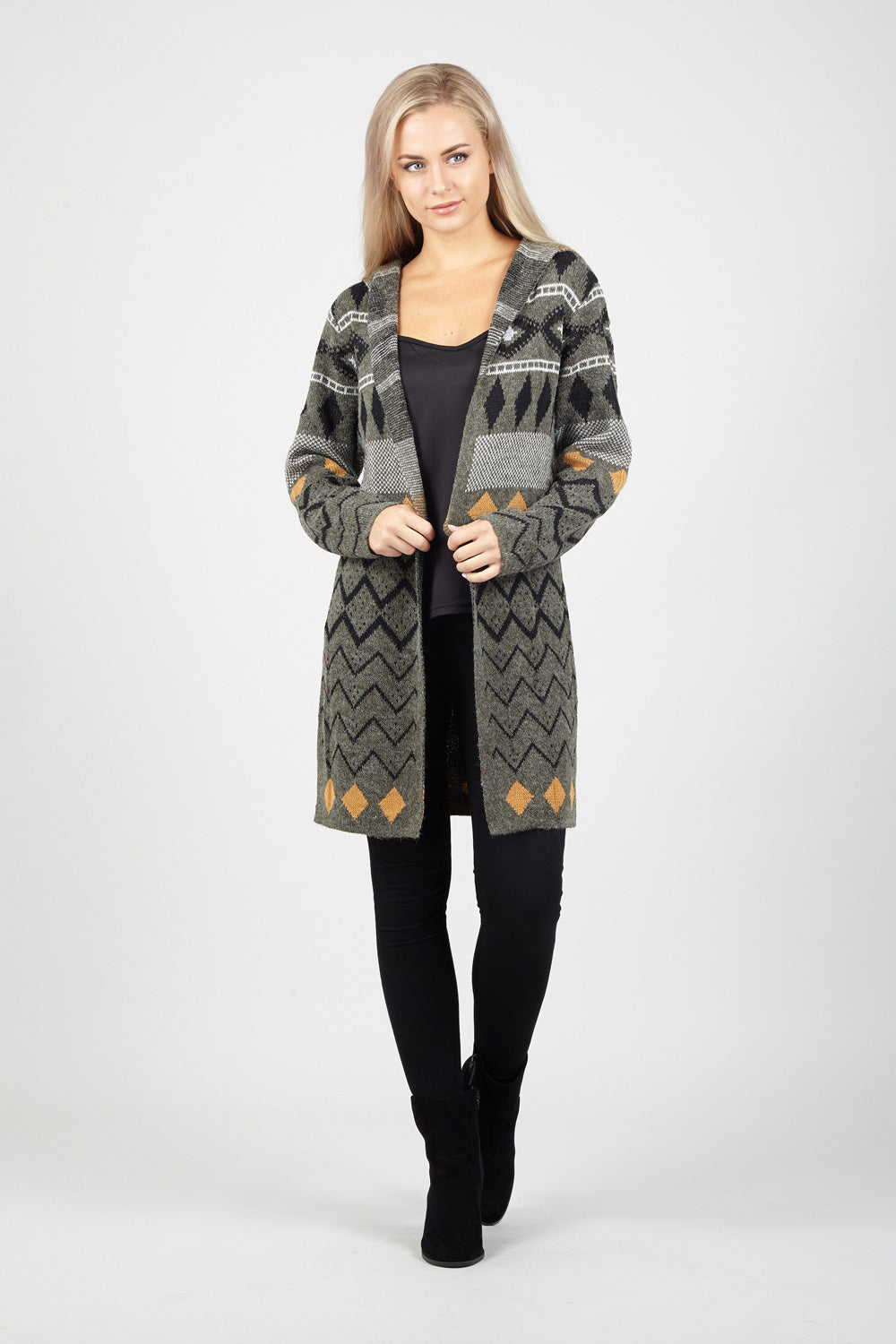 Aztec Knit Cardigan - Izabel London