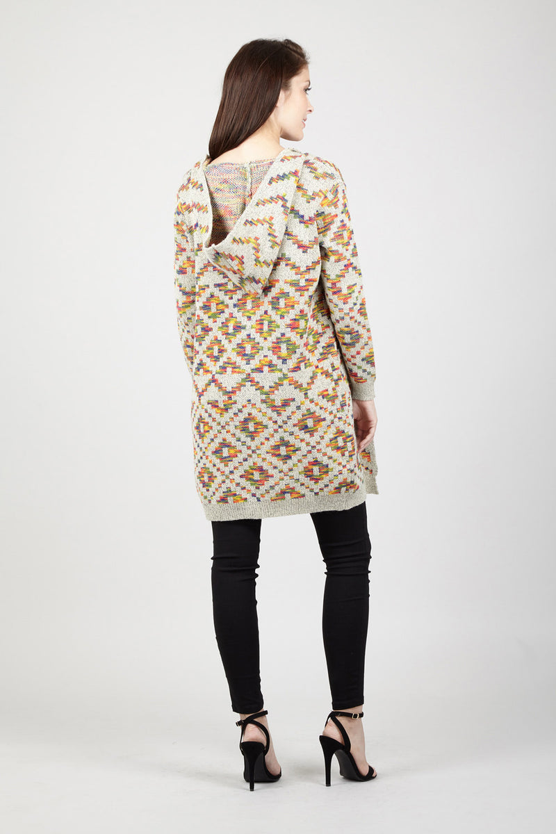 Aztec Hooded Cardigan - Izabel London