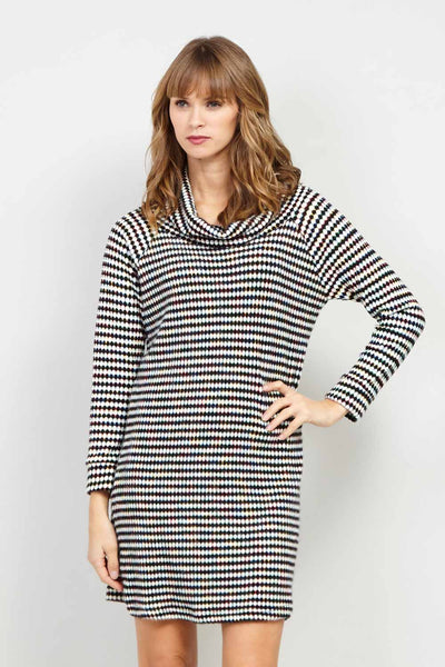 Roll Neck Knit Tunic Dress - Izabel London