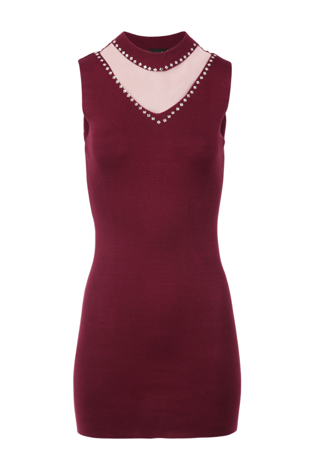 Embellished Trim Knit Dress - Izabel London