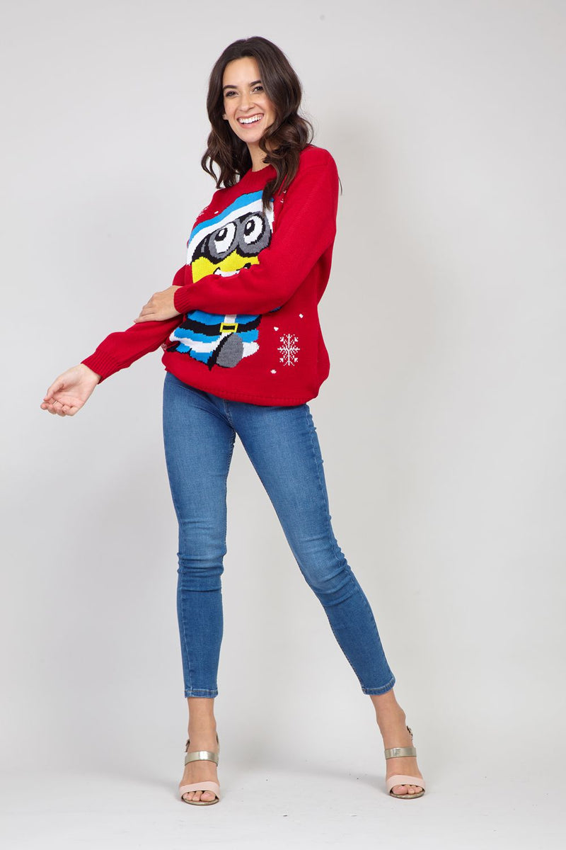 Red | Minion Knitted Jumper