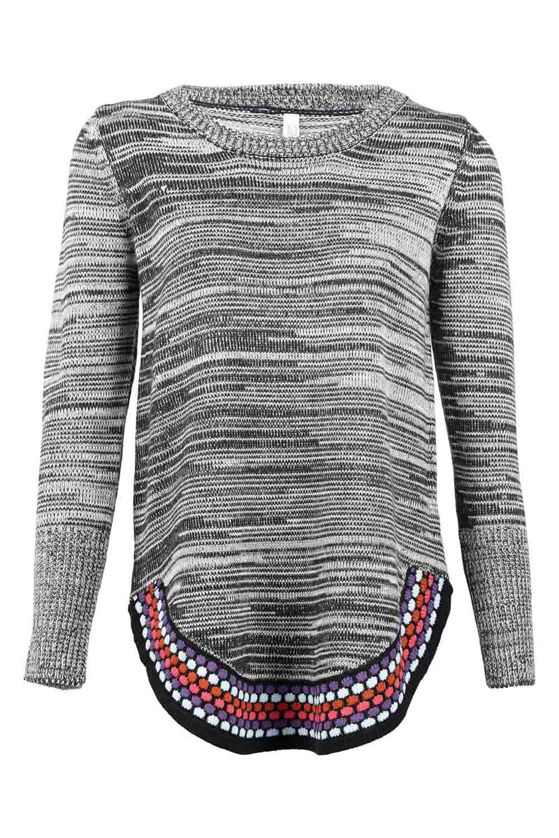 | Marl Pom Pom Sweater | Izabel London