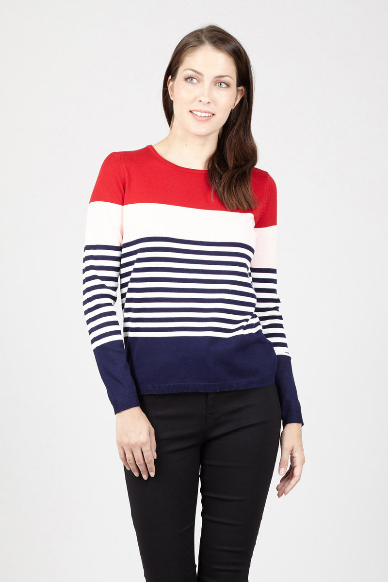 Colourblock Jumper - Izabel London