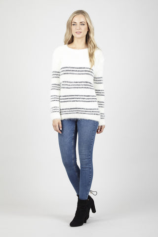 Striped Eyelash Jumper