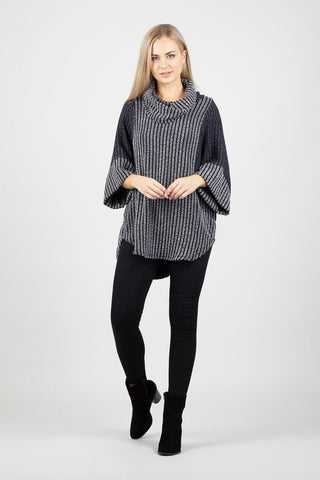 Knit Top With Stud And Zip Details