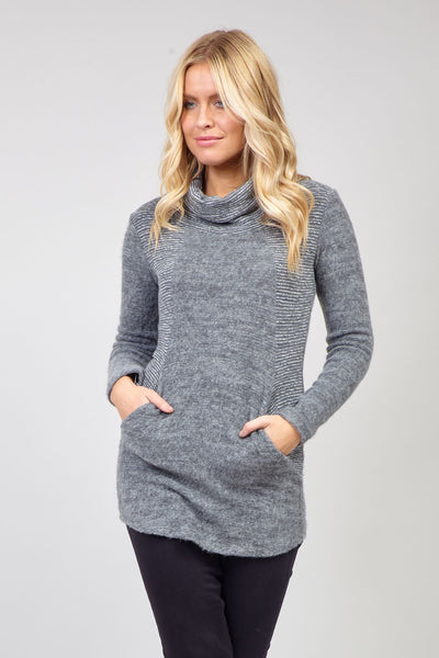 Grey | Roll Neck Sweater
