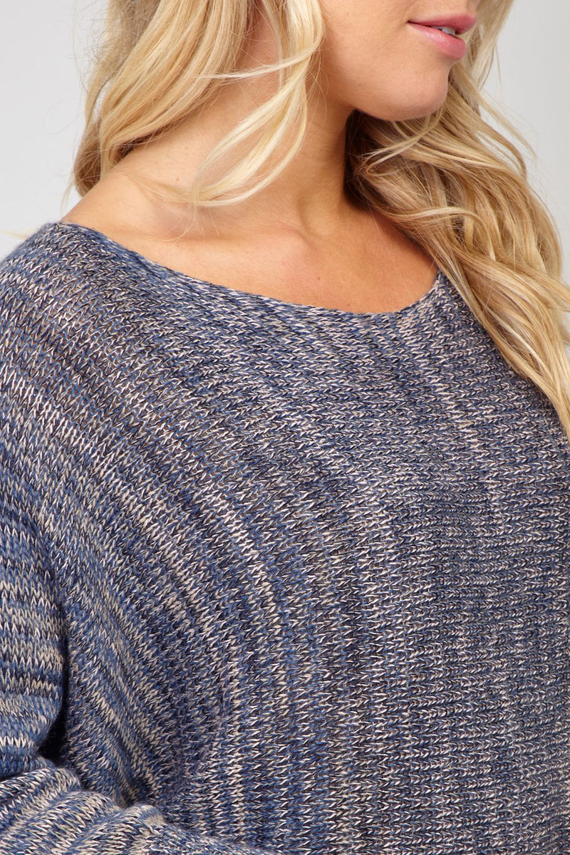 Navy | Boxy Knitted Jumper