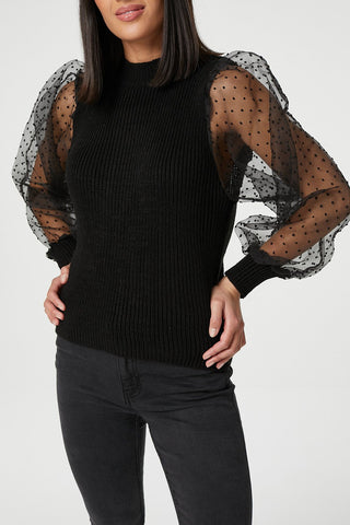 Animal Print Knitted Top