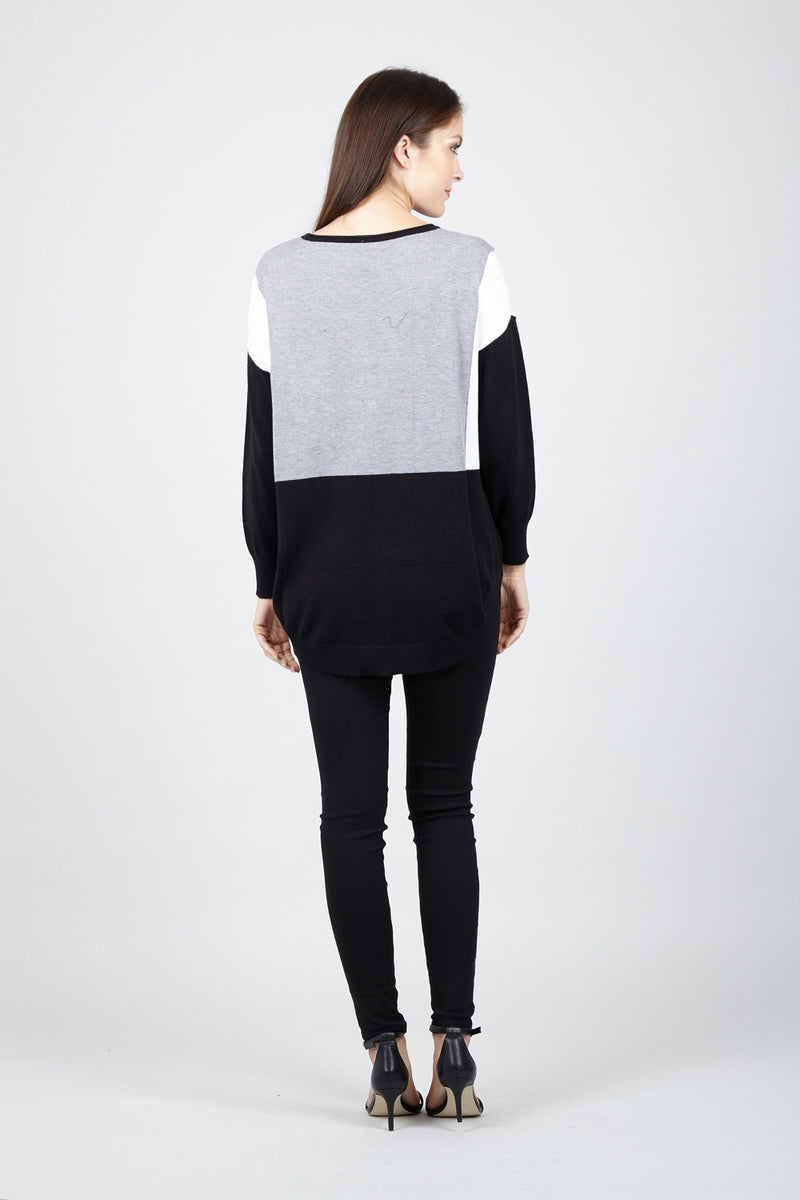 Colour Block Jumper - Izabel London