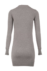 Grey | Knitted High Neck Dress
