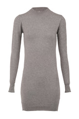 Beige | Knitted High Neck Dress