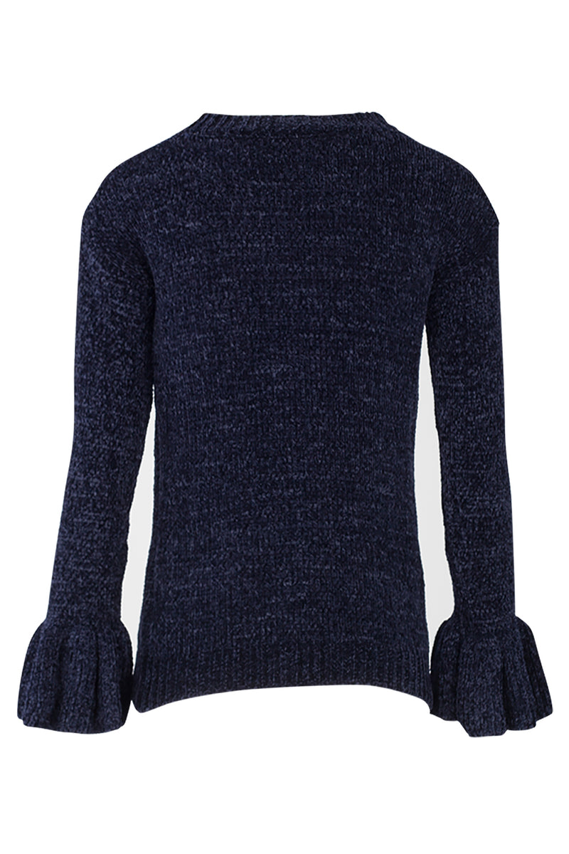 261cd8015488 Flute Sleeve Cable Knit Jumper