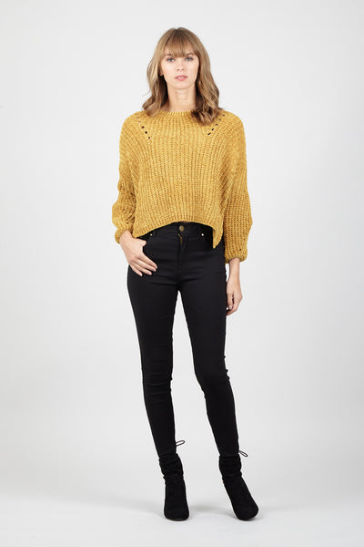 Yellow | Cable Knit Jumper