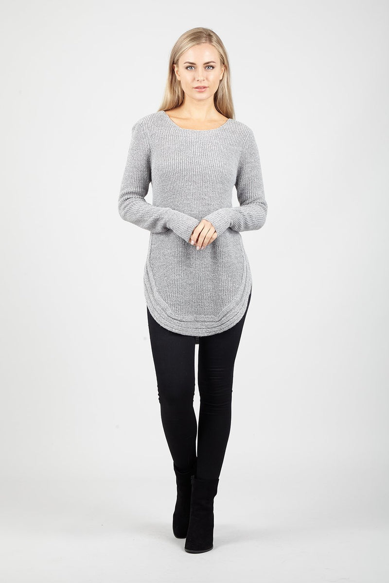 Cable Knit Chunky Jumper - Izabel London