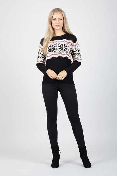 Fairisle Knitted Jumper - Izabel London