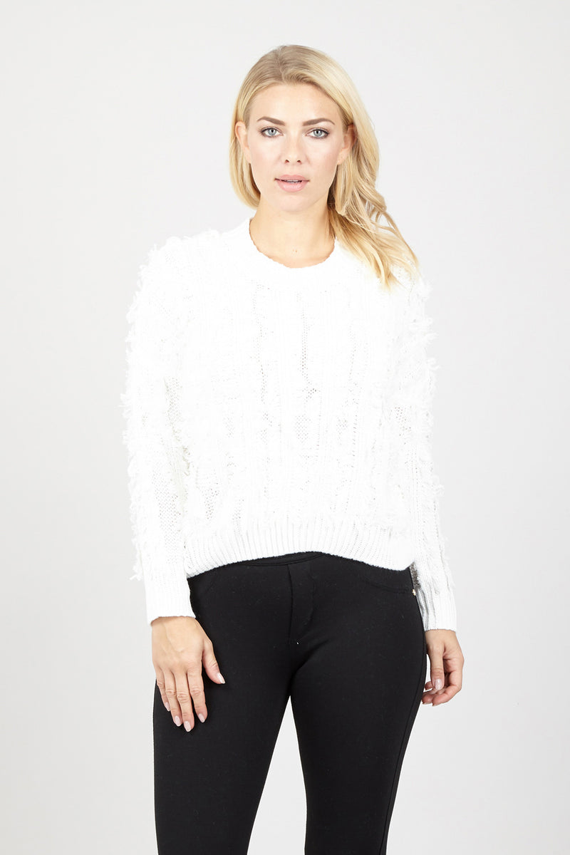 Cream | Eyelash Chunky Jumper