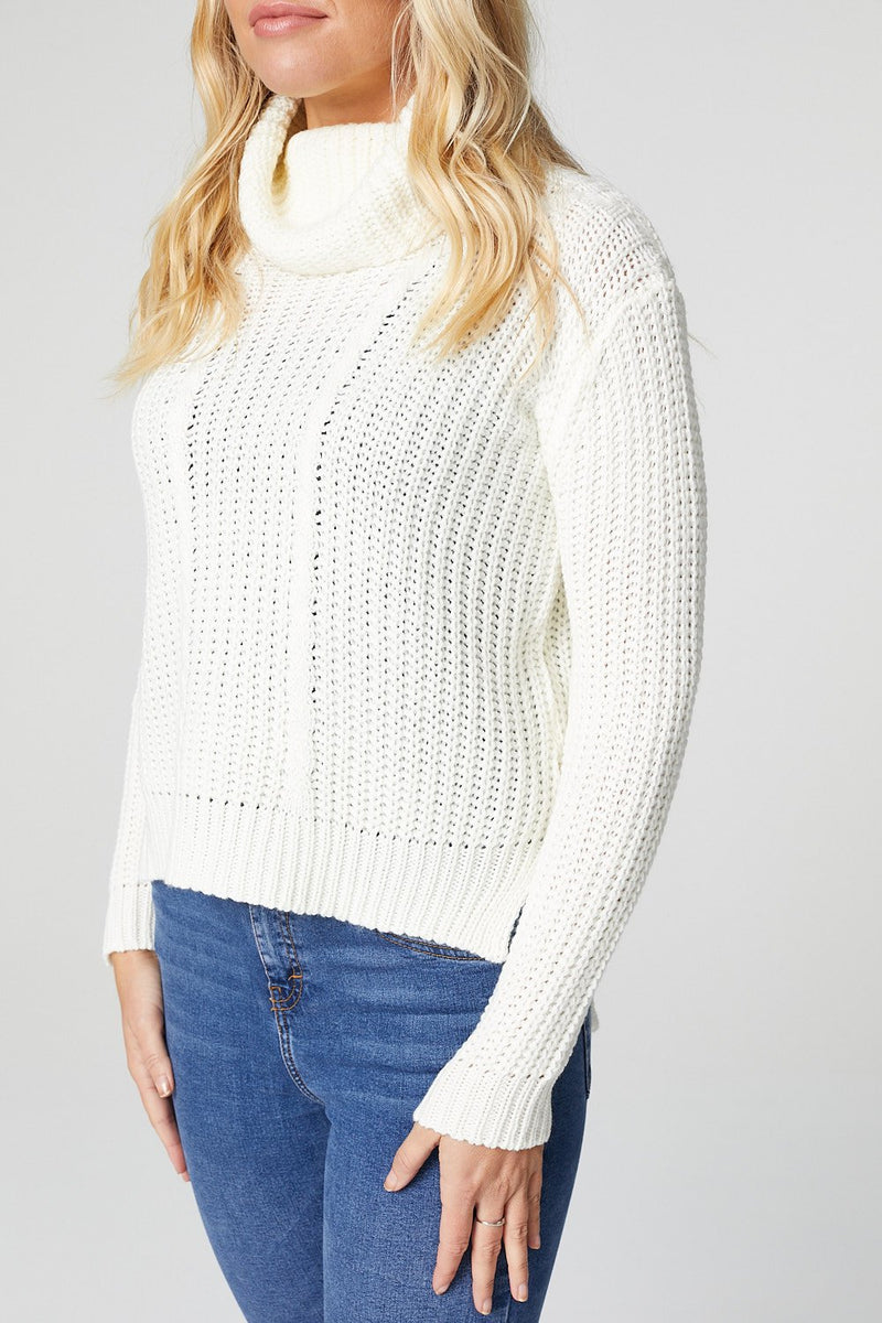 Ivory | Cable Knit Jumper