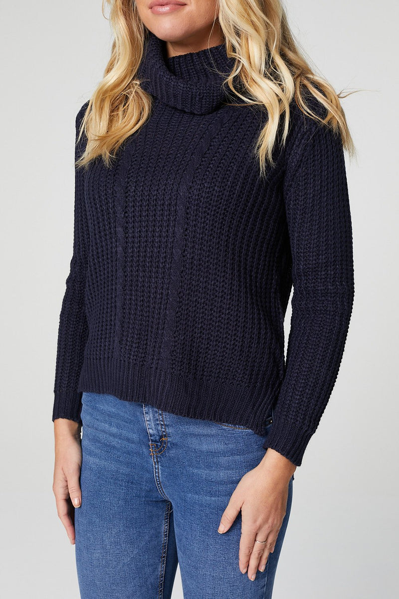 Navy | Cable Knit Jumper