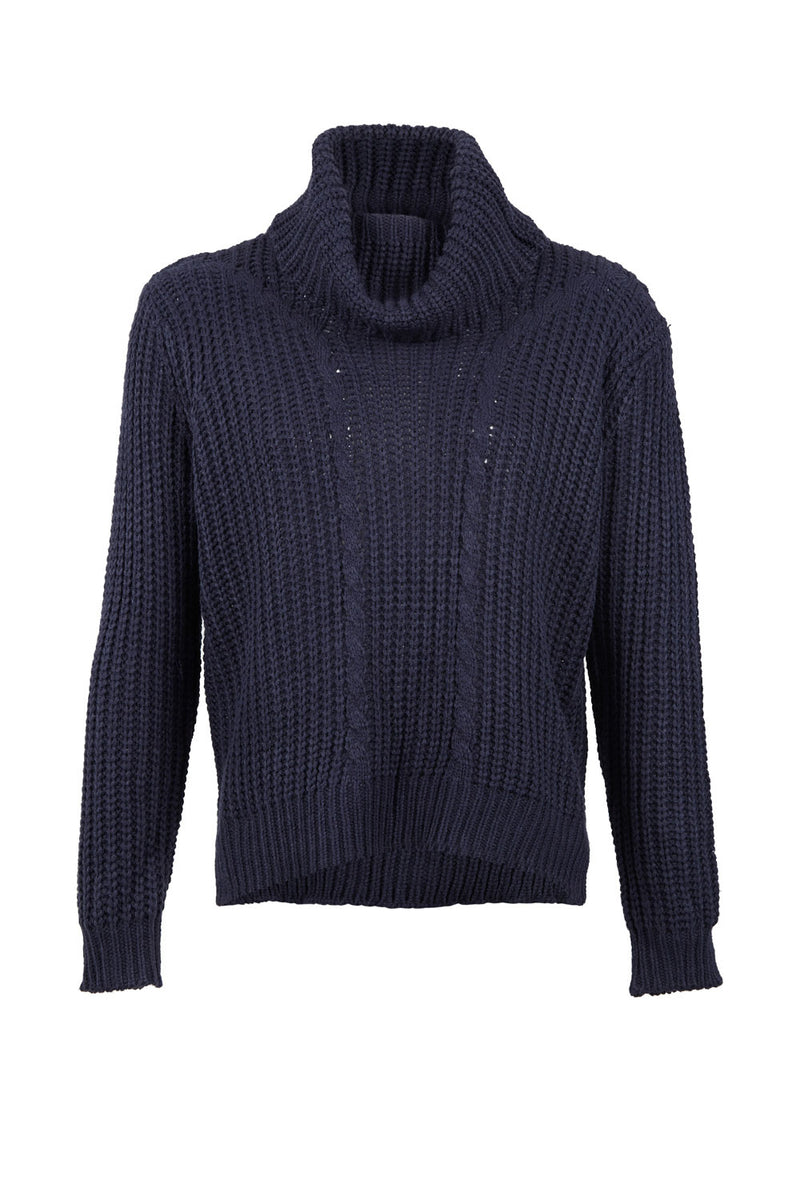 Cable Knit Jumper - Izabel London