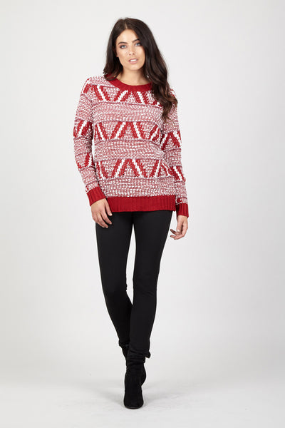 Aztec Chunky Jumper - Izabel London