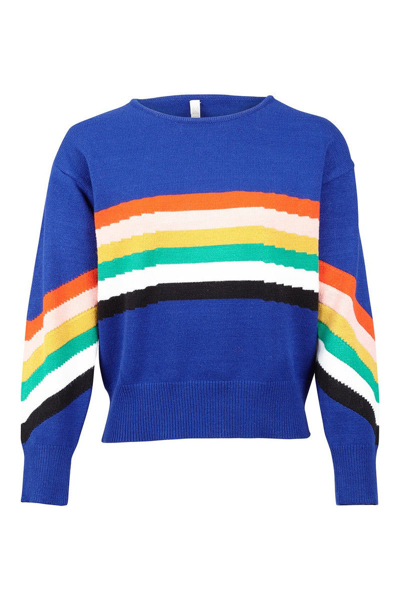 Rainbow Stripe Jumper - Izabel London