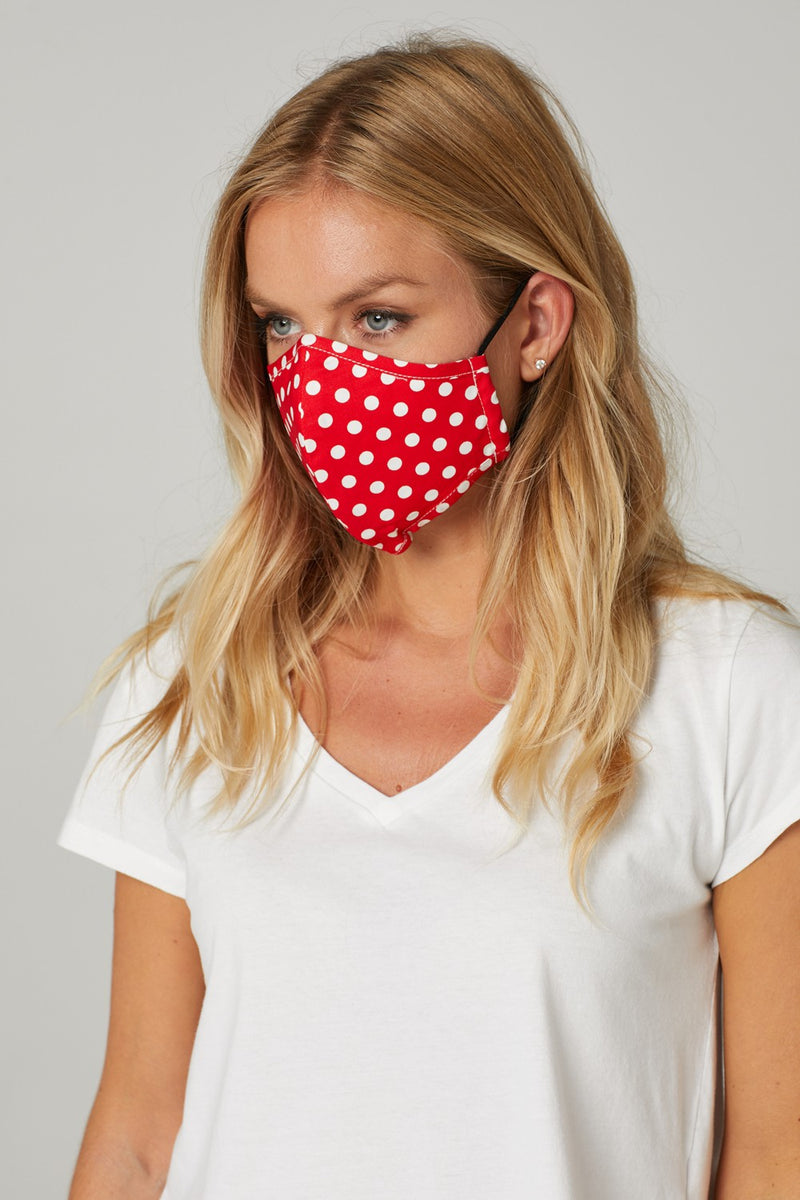 Micro Polka Dot Print Face Covering