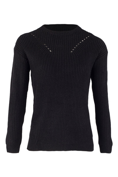 Tie Side Knitted Pullover - Izabel London