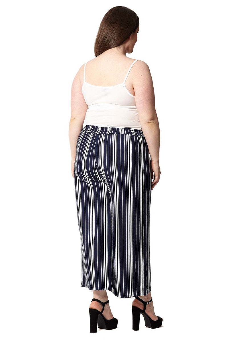 8880086a29688 Plus Size Striped Crop Trousers – Izabel London