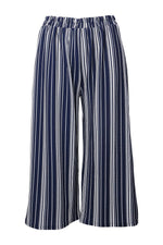 Curve Striped Crop Trousers - Izabel London