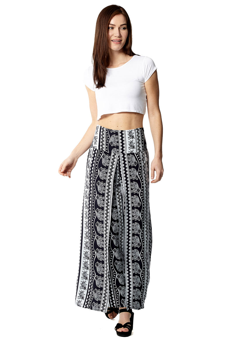 Tribal Print Palazzo Trousers - Izabel London