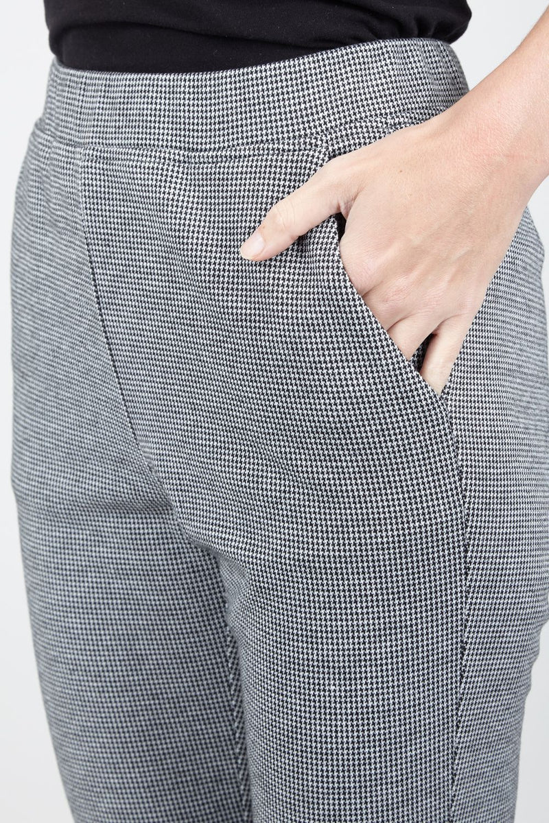 Grey | Checked Tailored Trousers