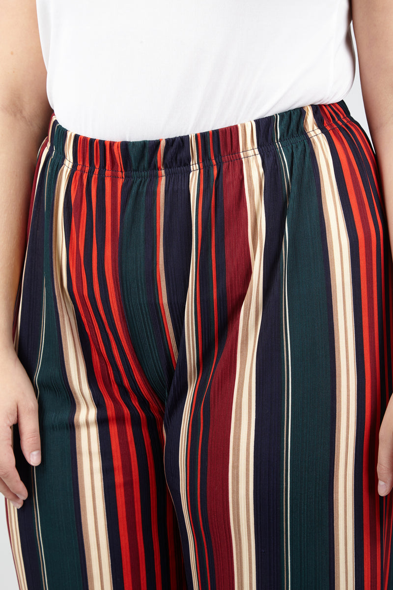 | Curve Striped Palazzo Trousers | Izabel London