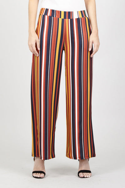 Colourful Stripe Palazzo Trousers - Izabel London