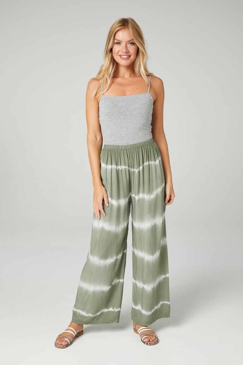 Tie Dye Wide Leg Trousers