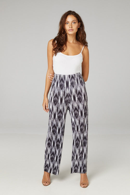 Abstract Print High Waist Trousers