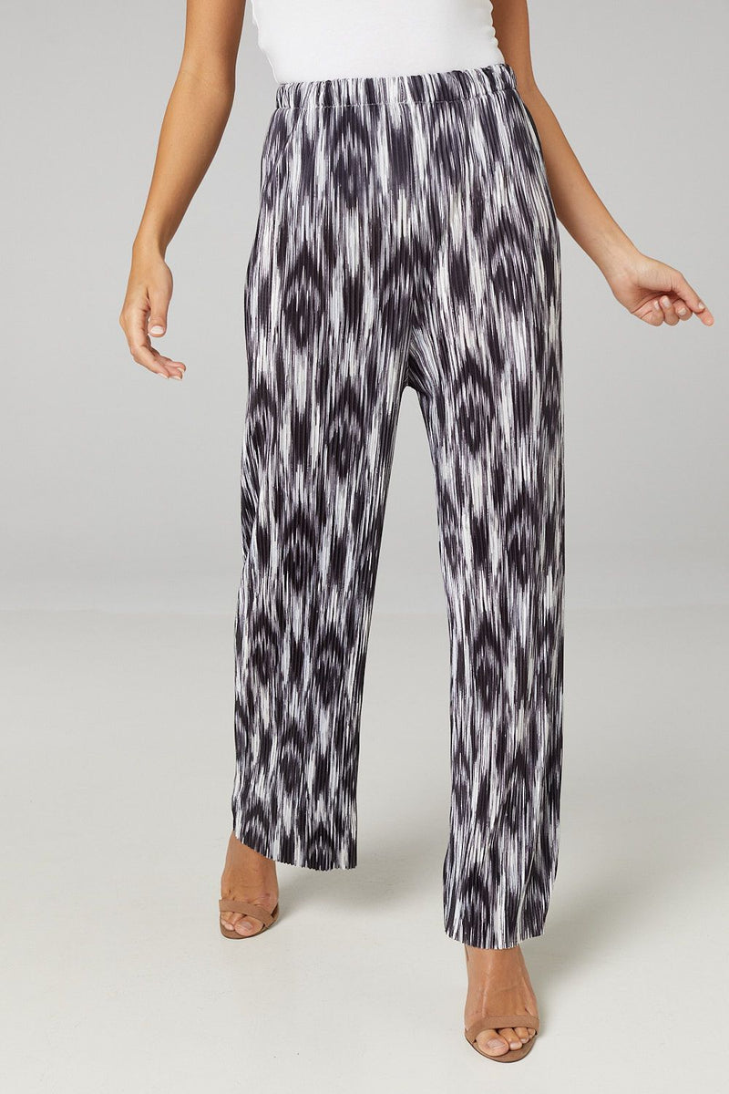 Black And White | Abstract Print High Waist Trousers