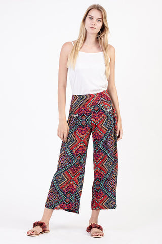 Colourful Stripe Palazzo Trousers