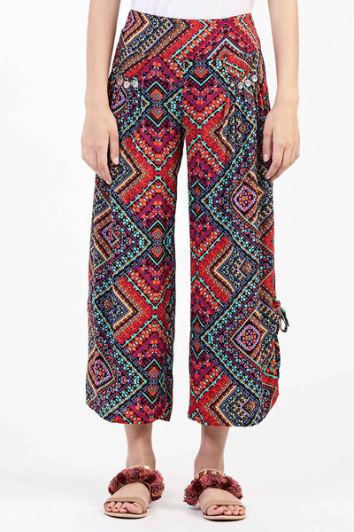 Tribal Cropped Trousers - Izabel London