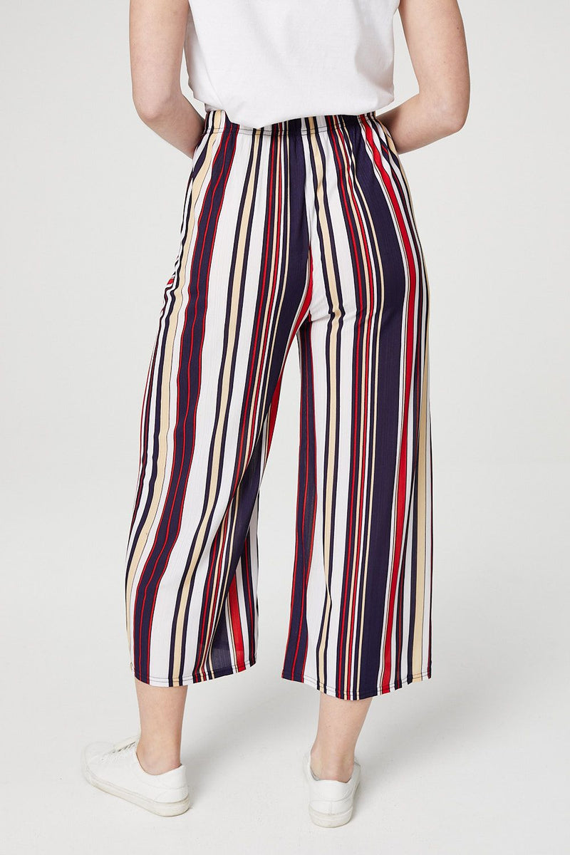 Striped Palazzo Trousers - Izabel London