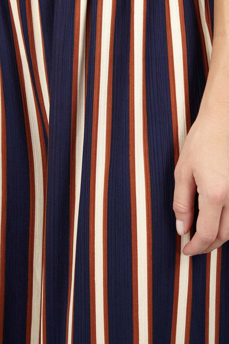 Navy | Striped Cropped Culottes